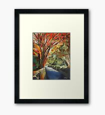 Burning Trees Framed Print