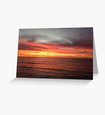 Firey beach sunset Greeting Card