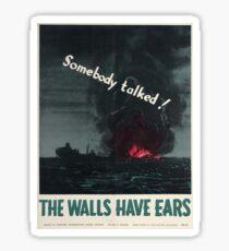 Vintage poster - Loose lips Sticker