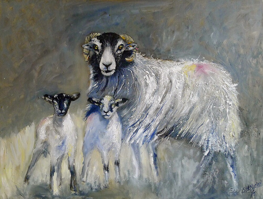 Swaledale Family by Sue Nichol