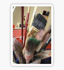 Paintbrushes Art Print Sticker