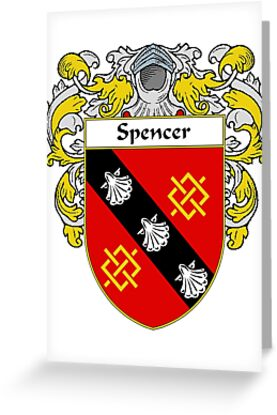 Spencer Coat of Arms / Spencer Family Crest by William Martin