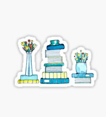 Tulips & Books Sticker