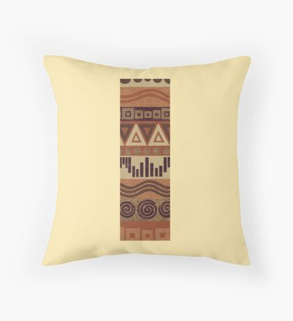 Letter I Leather Look Pattern Tribal Ethnic Monogram Initial Throw Pillow