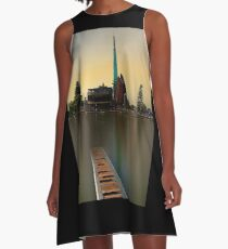 Swan Bell Tower - Perth Western Australia A-Line Dress