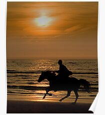 Ride at sunset Poster