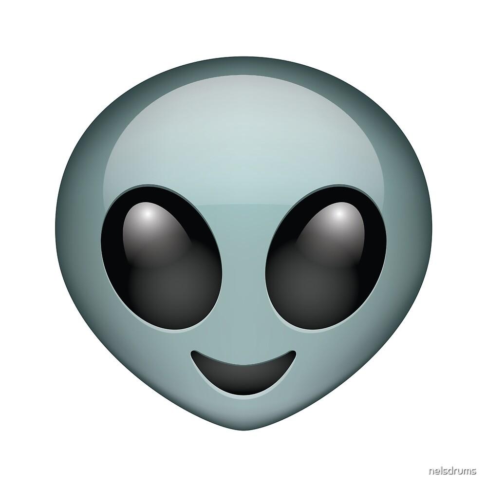 Alien Emoji By Nelsdrums Redbubble