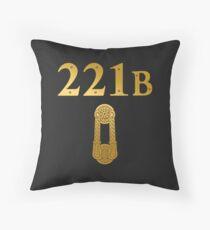 "Sherlock Holmes ""221B"" Throw Pillow"