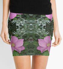 Dog roses in reflect Mini Skirt