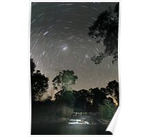 Small creek startrail Poster