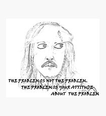 Jack Sparrow with Quote Photographic Print