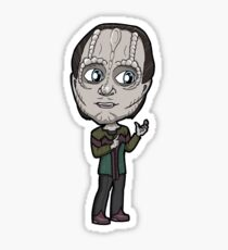 Star Trek DS9 - Elim Garak Cardassian Chibi Sticker Sticker