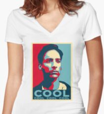 ABED NADIR COOL Women's Fitted V-Neck T-Shirt