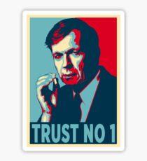 CIGARETTE SMOKING MAN TRUST NO 1 Sticker