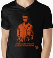 RUDY - There'll be shit Mens V-Neck T-Shirt