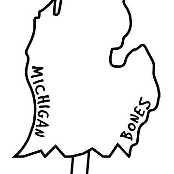 Michigan Bones de leiderdesign