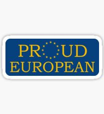 Proud European Sticker