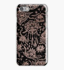 Chic dreamcatcher rose gold black illustration iPhone Case/Skin