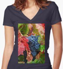 Grape Harvest Women's Fitted V-Neck T-Shirt