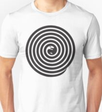 2 snakes illusion Unisex T-Shirt