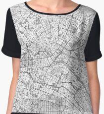 Berlin Map Line Women's Chiffon Top
