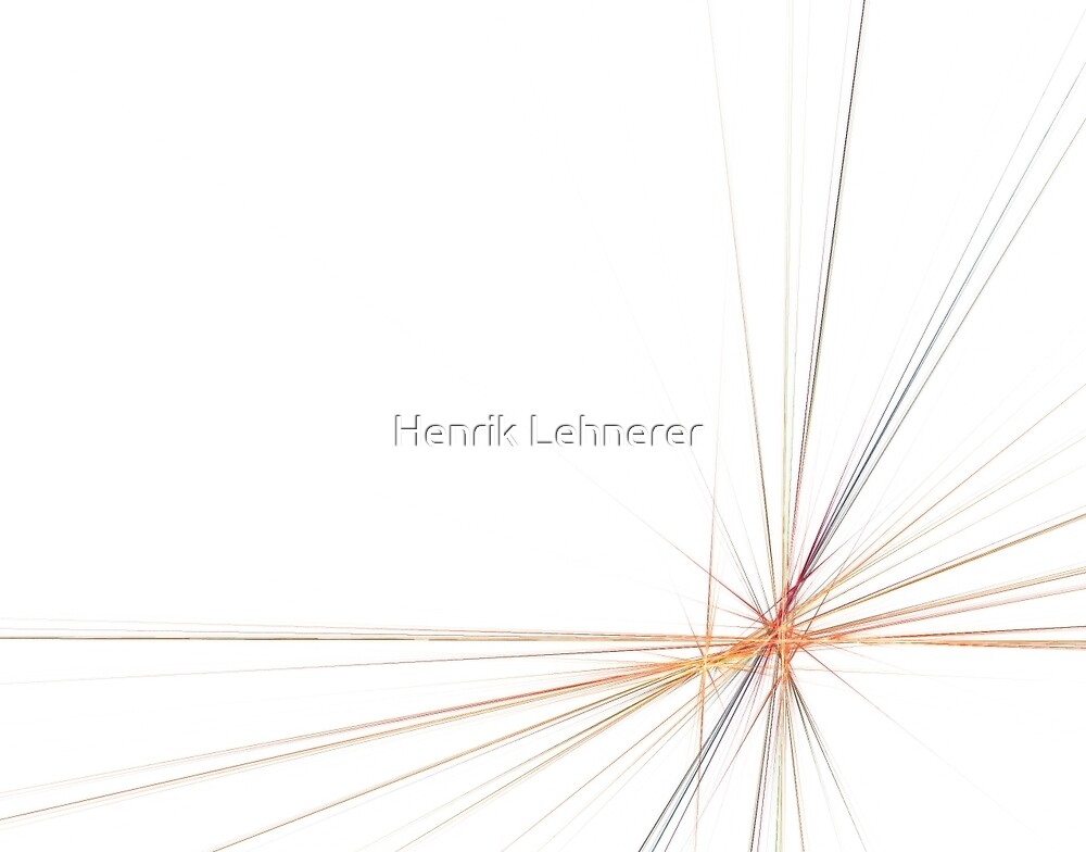 Fractal 43 Orange by Henrik Lehnerer