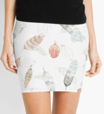 Flighty Feathers with Colors Mini Skirt