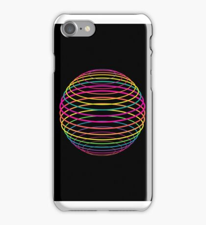 Neon Strings of the Globe iPhone Case/Skin