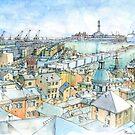 Il Porto (view of Genoa) by Luca Massone  disegni