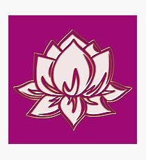 Lotus Flower Symbol Wisdom & Enlightenment Buddhism Zen Photographic Print