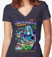 Shreddered Wheat Women's Fitted V-Neck T-Shirt