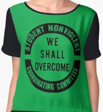 Student Nonviolent Coordinating Committee (SNCC) Women's Chiffon Top