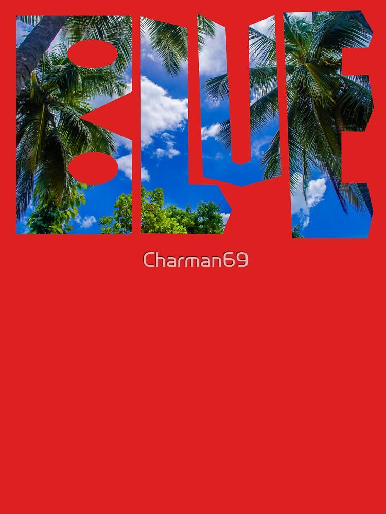 The Palm Sky Blue A by Charman69