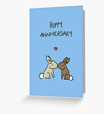 Hoppy Anniversary Greeting Card
