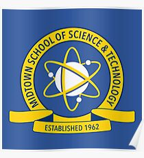 Midtown School of Science and Technology Logo Poster