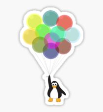 Penguin & Balloons Sticker