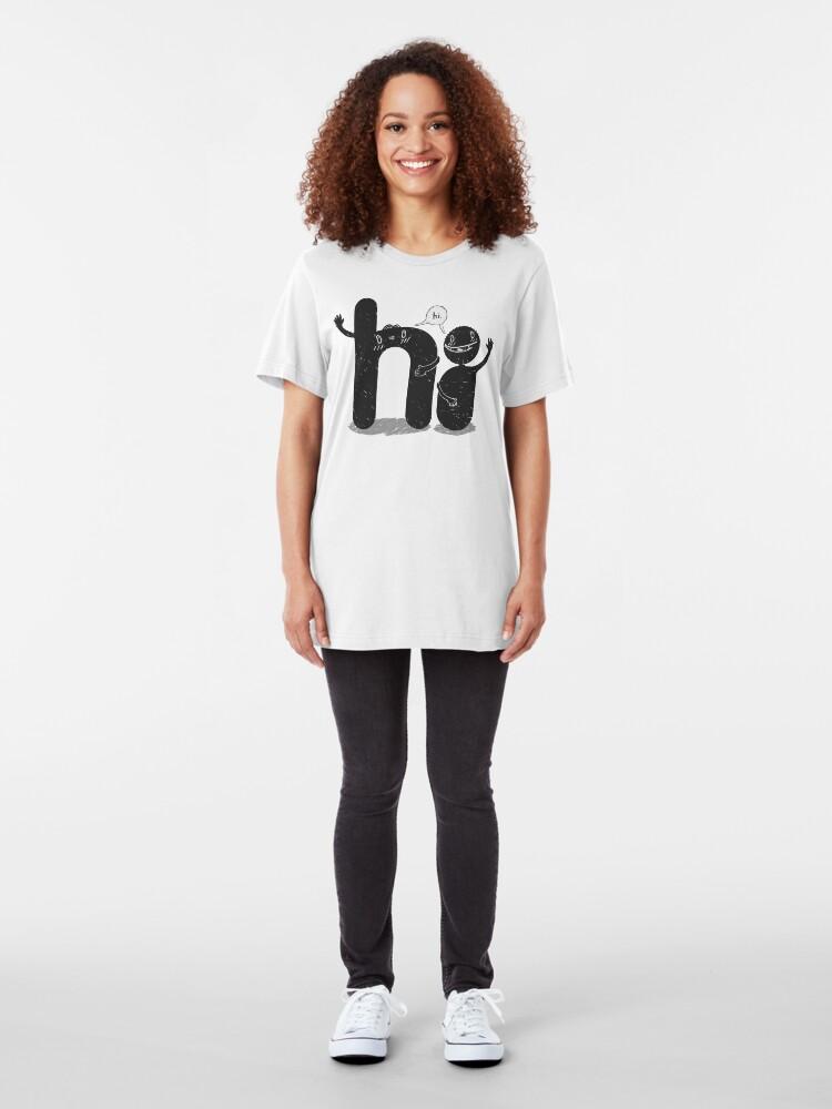 Alternate view of Simply Hi! Slim Fit T-Shirt