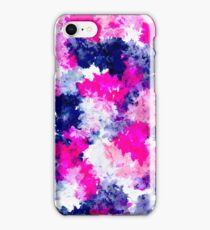 Modern pink purple watercolor brushstrokes iPhone Case/Skin