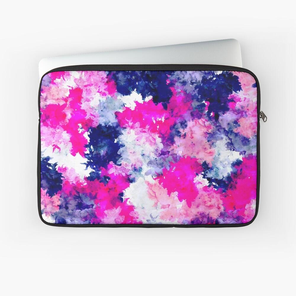 Moderne rosa lila Aquarellpinselstriche Laptoptasche