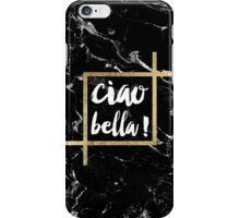 Stylish trendy typography gold leaf black marble iPhone Case/Skin