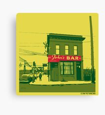 John's Bar Canvas Print