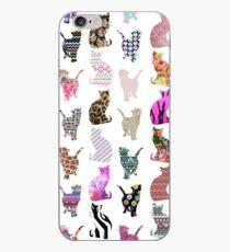 Aztekisches Blumenstreifenmuster der Girly wunderlichen Katzen iPhone-Hülle & Cover