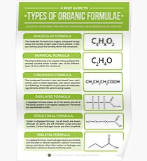 Types of Organic Chemistry Formula Poster