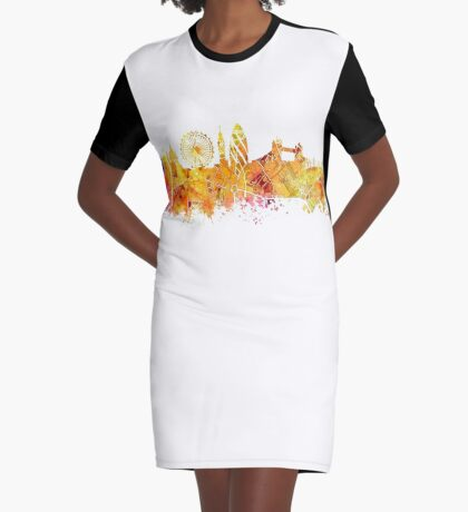 London skyline map city Tower Graphic T-Shirt Dress