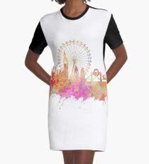 London skyline underground Graphic T-Shirt Dress