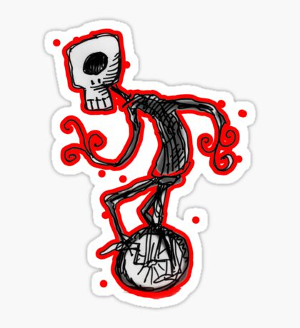 cyclops on a unicycle Sticker