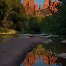 Reflection at Cathedral Rock by Sue  Cullumber