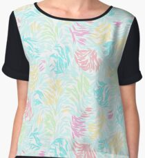 Cute Summer Pastel Watercolor Brush Strokes Pattern Women's Chiffon Top