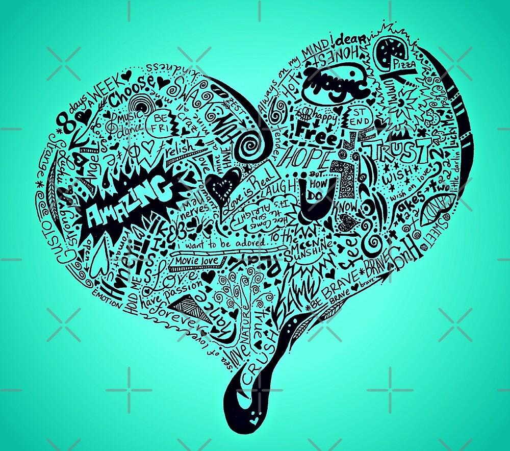 Heart full graffiti love by Casey Virata