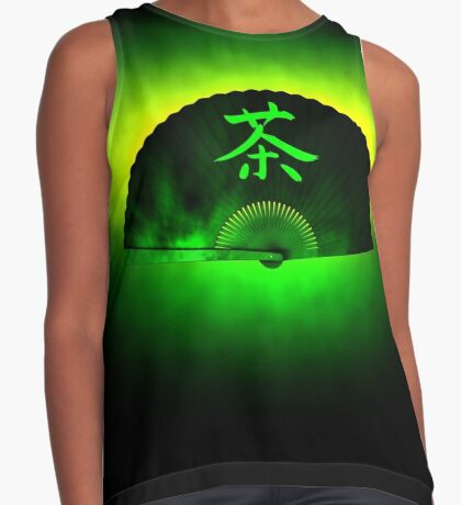 Green tea Contrast Tank